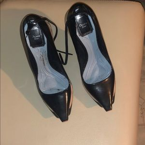 Christian Dior navy blue sneaker pumps unique af!!
